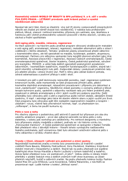 Tisková zpráva z veletrhu WORLD OF BEAUTY & SPA