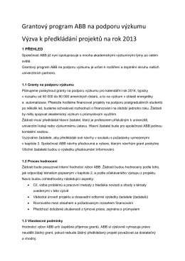 ABB Research Grant Program - témata (.pdf)