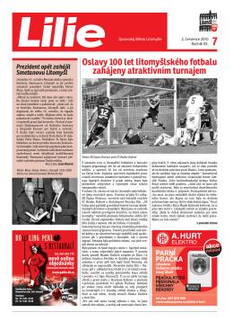 Oslavy 100 let litomyšlského fotbalu zahájeny atraktivním turnajem