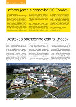 Dostavba obchodního centra Chodov Informujeme o dostavbě OC