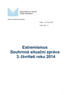 Problematika extremismu na území České republiky ve třetím