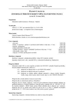 Plesový manuál 2015 (Rev. 03) - Gymnázium Olomouc