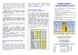 Osobní bankrot - Oblastní charita Uherské Hradiště