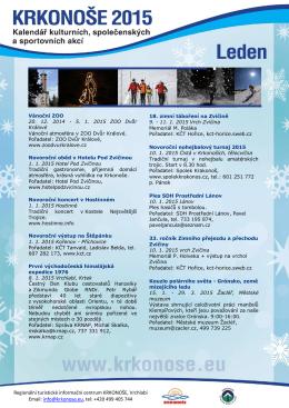 Roční kalendář akcí
