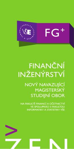 Informační leták - Katedra bankovnictví a pojišťovnictví
