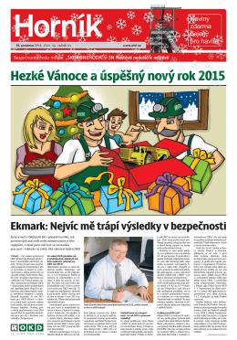 Hezké Vánoce a úspěšný nový rok 2015