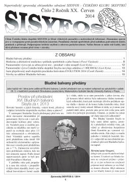 Číslo 2 Ročník XX. Červen 2014