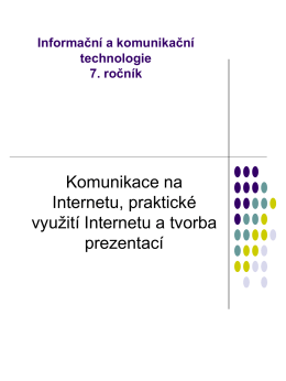 Komunikace na Internetu, elektronická pošta, Chat, ICQ,Skype.