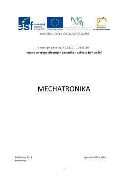MECHATRONIKA - SPŠ a SOU Pelhřimov