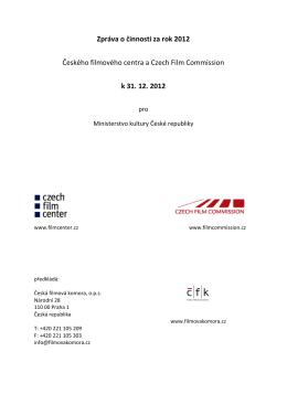 Výroční zpráva 2012 - Česká filmová komora