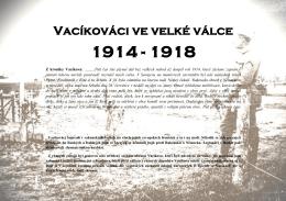 Vacíkováci ve velké válce 1914