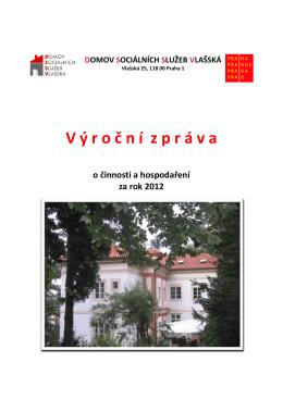 Zpráva ve formátu PDF - Domov sociálních služeb Vlašská