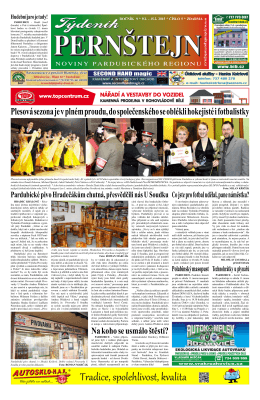 Vydání Týdeníku Pernštejn z 09.02. 2015, č. 5