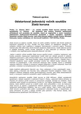 Odstartoval jedenáctý ročník soutěže Zlatá koruna