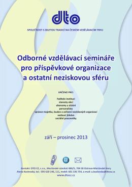 Odborné vzdělávací semináře pro příspěvkové