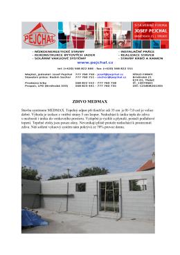 stavby rodinnych domku medmax ytong a cihly