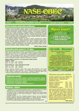 Naše obec 2014 - Ruda nad Moravou