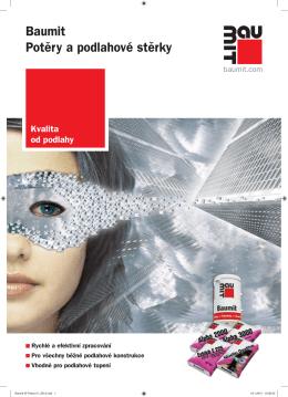Baumit Potěry a podlahové stěrky - Lité podlahy