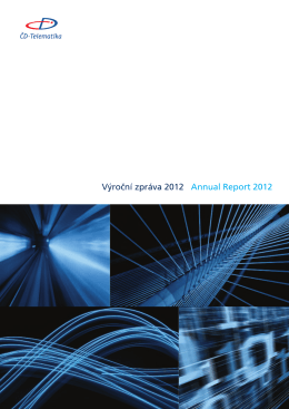 Výroční zpráva 2012 - ČD