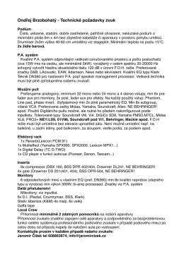 Ondřej Brzobohatý - Technické požadavky zvuk (PDF)