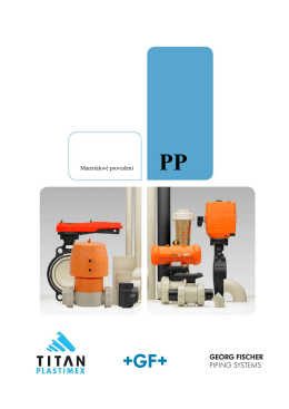 Materiálové provedení PP - TITAN