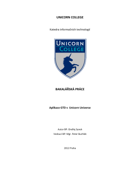 Aplikace GTD v Unicorn Universe