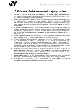 6. Ochrana před úrazem elektrickým proudem