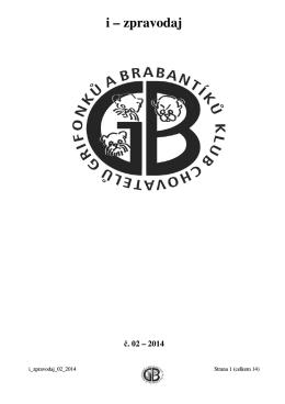 i – zpravodaj - Klub chovatelů grifonků a brabantíků