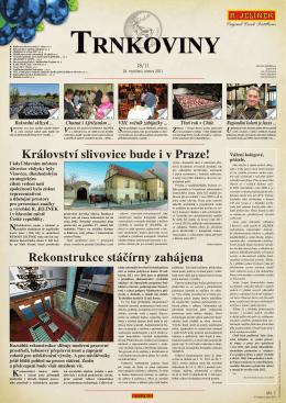 Rekonstrukce stáčírny zahájena Království slivovice bude i v Praze!