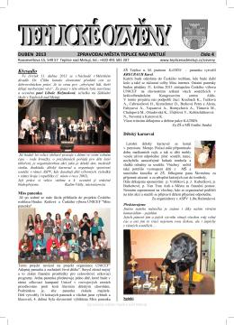 Ozveny 4-2013.pdf - Město Teplice nad Metují