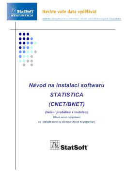 vod na instalaci softwaru STATISTICA(network)