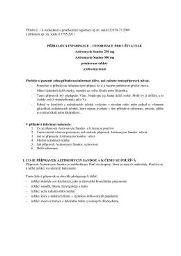 PIL Azitromycin Sandoz 250 500 mg- 122670-1-09