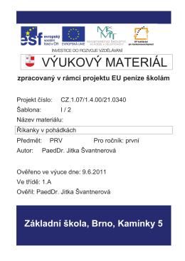 35 Říkanky v pohádkách (PDF) - Základní škola, Brno, Kamínky 5