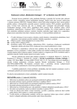 Výsledky hodnocení 2011/2012 - Multimediální pomůcky na VFU