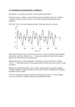 4.1 Kmitání mechanického oscilátoru