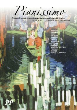Čtvrtletník pro klavírní pedagogy, studenty a příznivce klavírní hry