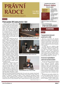 Právní rádce Právní prostor 2012 aneb právníci v Seči