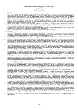 Všeobecné podmínky společnosti SychrovNET s.r.o.
