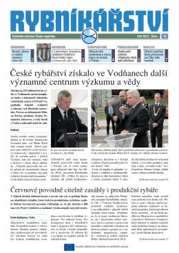 Noviny Rybníkářství 15. číslo - Rybářské sdružení České republiky