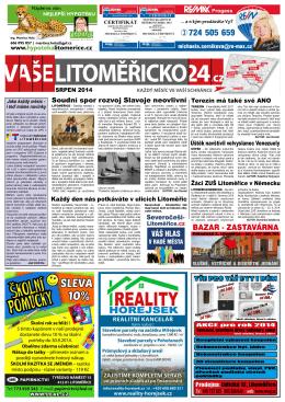 Srpen 2014 - Litoměřicko24.cz