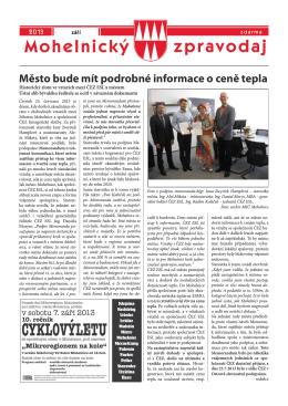 Mohelnický zpravodaj září 2013