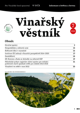 Vinařský věstník Obsah