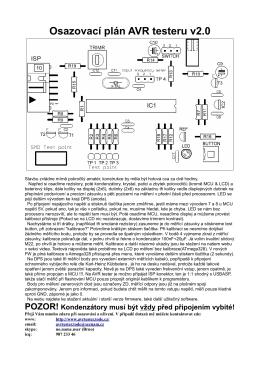 Osazovací plán AVR testeru v2.0