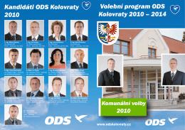 Volební program ODS Kolovraty 2010