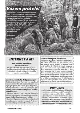 Vážení přátelé! - Klub chovatelů psů leonbergerů ČR