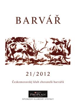 Zpravodaj 2012 - Českomoravský klub chovatelů barvářů