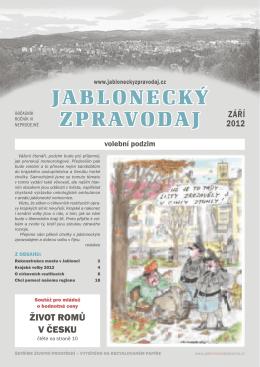 jabloneckÝ zpravodaj ZÁŘÍ
