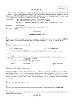 Dražební vyhláška - č.j. 144 EX 6445/14-15
