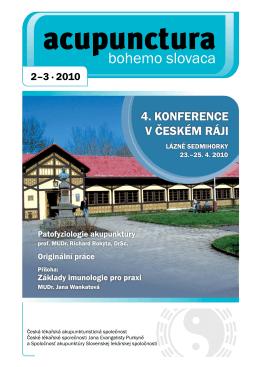 2010 - 2,3 - Česká lékařská akupunkturistická společnost