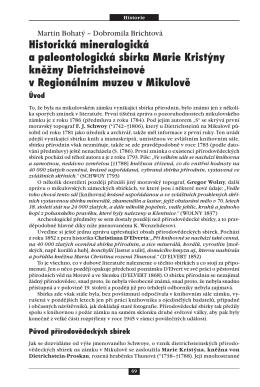 Martin Bohatý – Dobromila Brichtová Historická mineralogická a